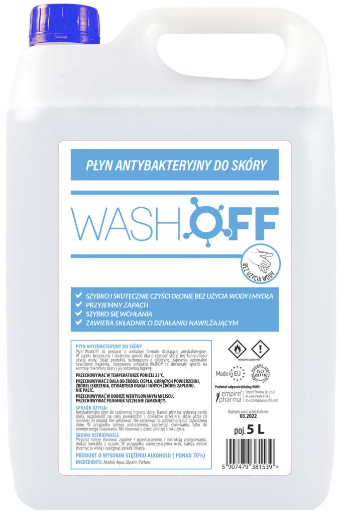 WashOFF antybakteryjny płyn do skóry! 5L